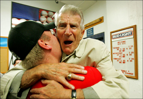 Johnny Pesky and Curt Schilling