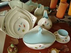 Collections - Eva Zeisel for Hallcraft, Century shape, Fern pattern