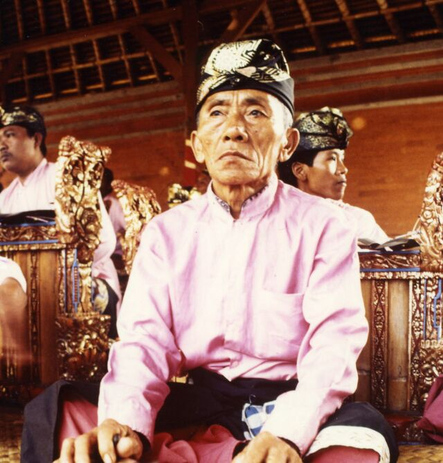 indonesia bali man gamelan