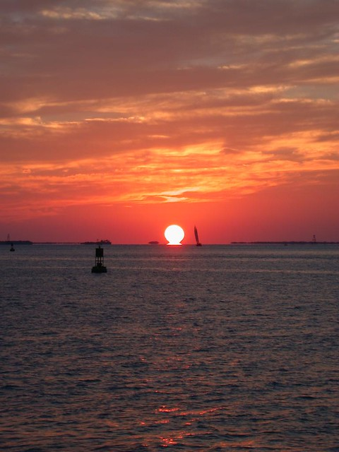 Sunset  at Mallory Square in Key West