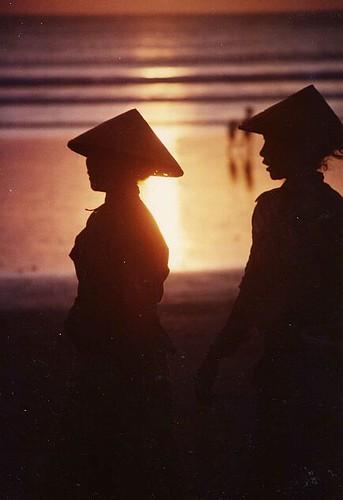 indonesia bali kuta sunset