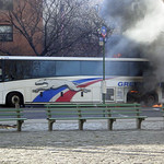 Greyhound Bus Explodes and Catches on Fire