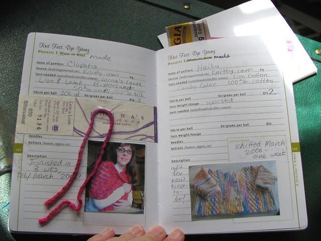 Knitting Journal App : Ef a ee d z g zz