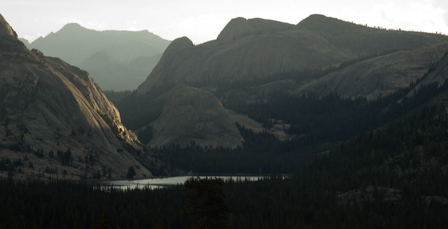 Tenaya Lake and surrounding environs. Photo by Loyd Schutte.