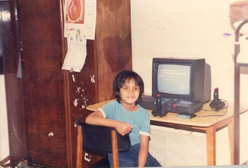 Me and my PC, circa 1986. There was no escape from geekdom