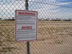 Davis-Monthan AFB: Aerospace Maintenance and Recovery Center (AMARC)  perimeter fence