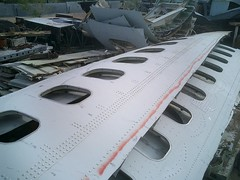 707 Fuselage, Strips of Windows