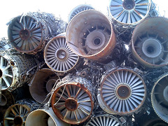 Salvaged Fighter Jet Engines