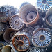 Salvaged Fighter Jet Engines by Telstar Logistics