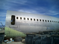 Severed section, 707 fuselage