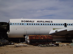 Somali Airlines 707, scapping in progress