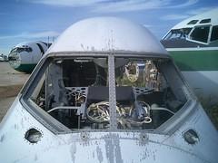 Severed 747 cockpit section