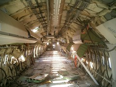 Interior view, gutted 727