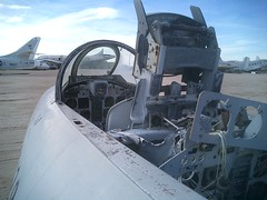 Stripped cockpit, F-80 Shooting Star