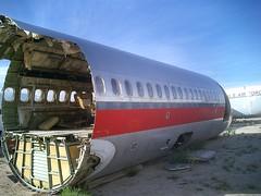 Severed USAir fuselage