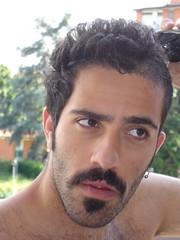 nose, black hair, chin, face, facial hair, hairstyle, male, man, head, hair, chest hair, cheek, mouth, eyebrow, forehead, beard,