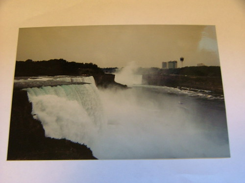 Photo of a photo of niagra falls