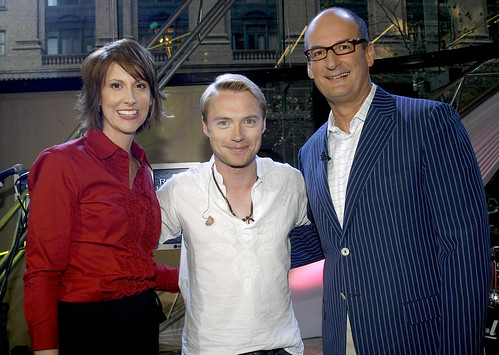Ronan Keating with Nat and Kochie