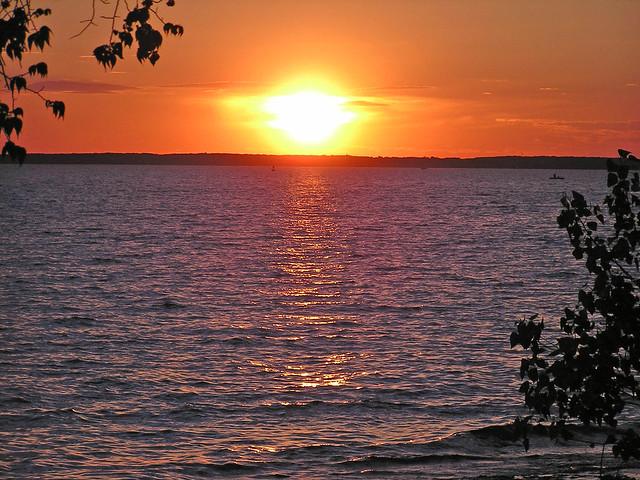 Island Horizon Sunset