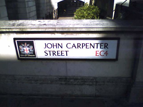 London names streets after horror movie directors.