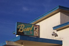 Treasure Island, abandoned bowling alley sign
