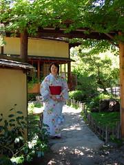Akemi at the tea house