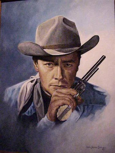Portrait of early western star Tim Holt by Ivan Jesse ...