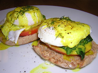 Eggs Florentine with Orange Dill Sauce
