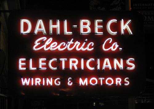 Dahl-Beck Neon Sign
