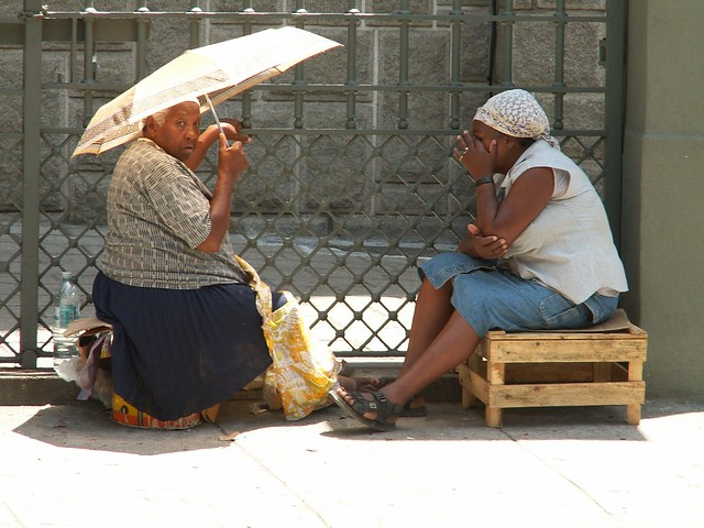 old ladies chatting