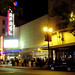 mill valley film festival, san rafael theater at night