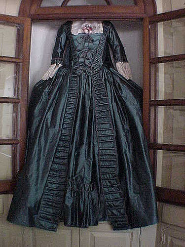 Taffeta often used to create spectacular colonial gowns ...