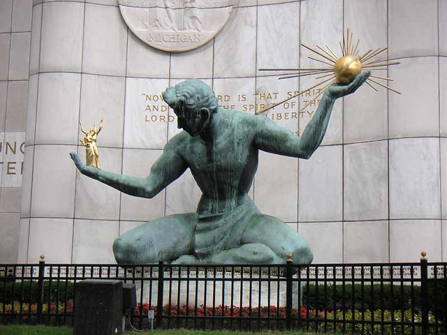 Detroit Liberty statue by CC user wurzle on Flickr