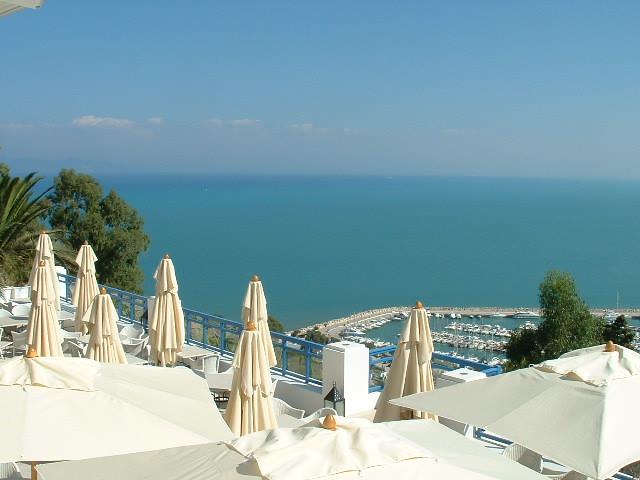 Sidi bou said view from restaurant dar zarrouk by for Sidi bou said restaurant
