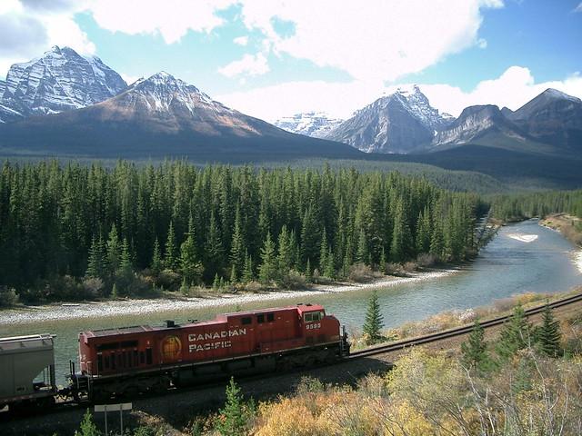 Train in Rockies