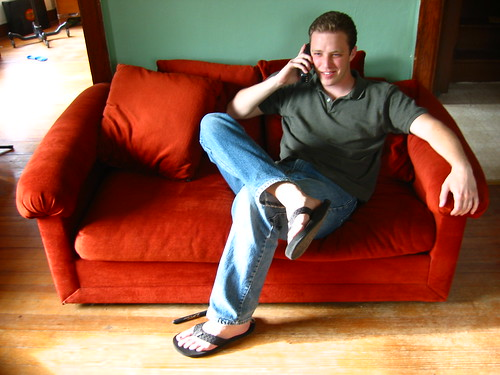 cro talking on the phone