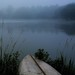 foggy morning canoe