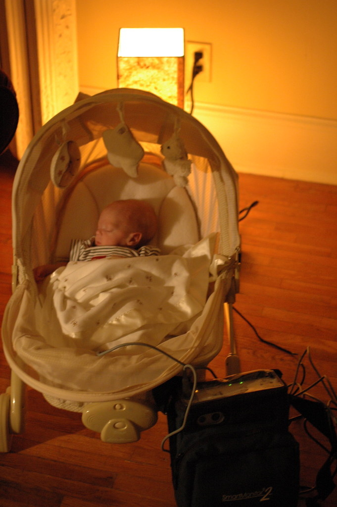 day 96: wired in a bouncy chair
