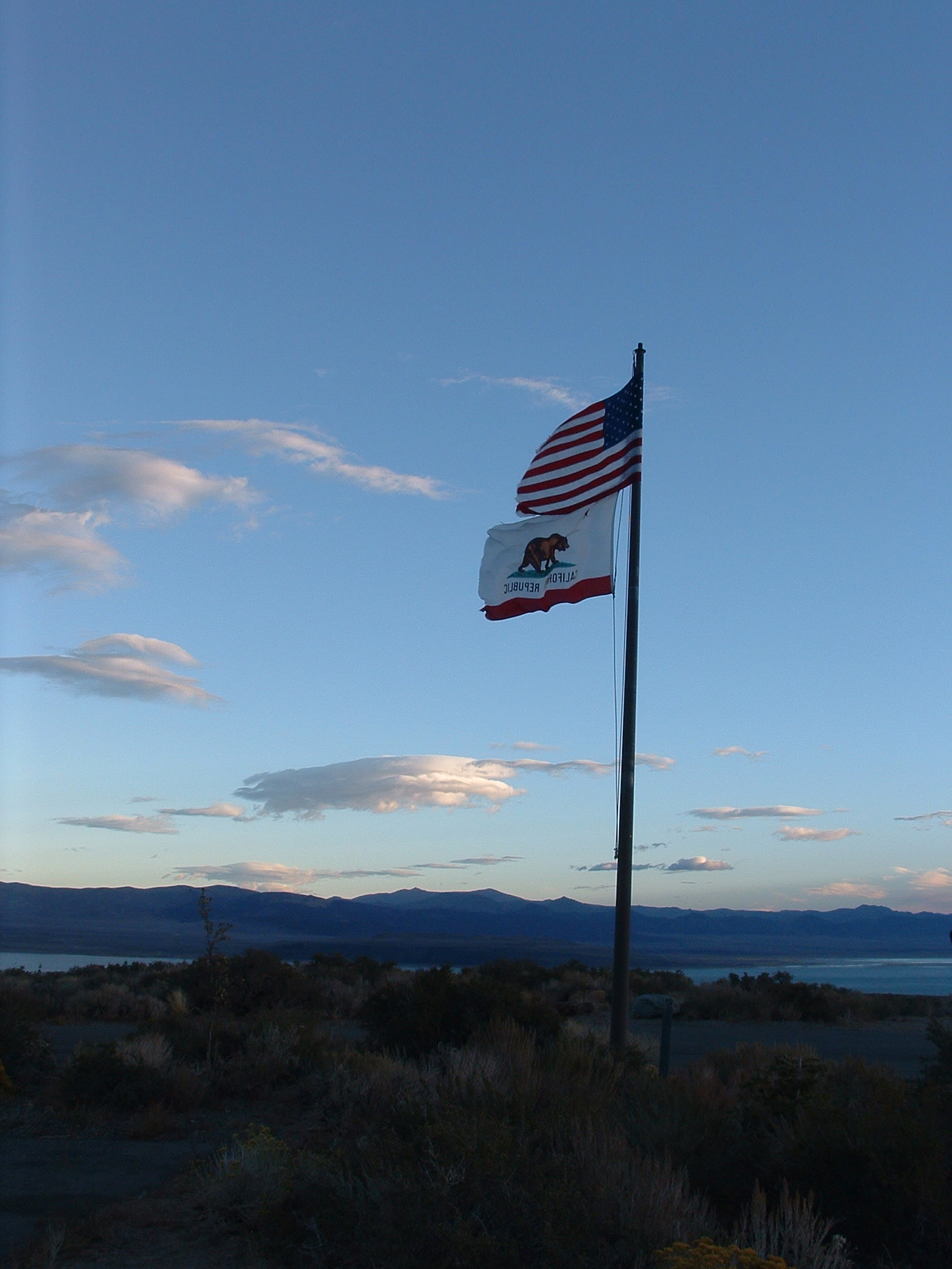 American Flag Mono Lake