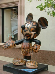 Mickey goes spotty