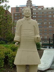 Replica of a terra-cotta soldier from the Mausoleum of the First Qin Emperor