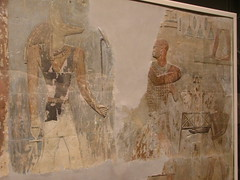 Relief of Mentuemhat approaching Anubis