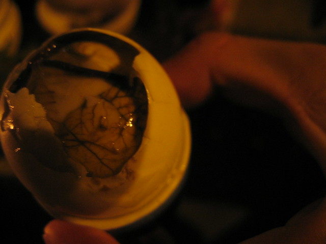 mysterious (duck in egg / balut)
