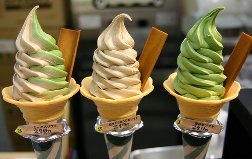 Japanese Tea Flavoured Ice Cream by timtak