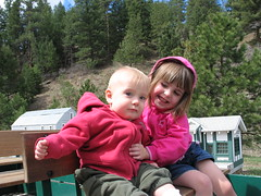 Abbie and Jack on the Train