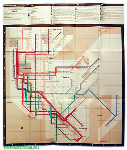 1972 Subway Map