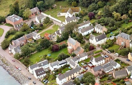 Church Street Cromarty from the air