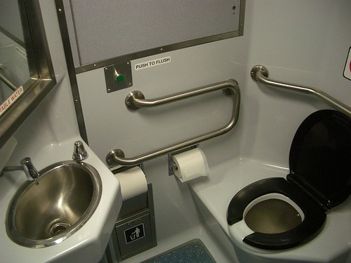 "CalTrain ""Baby Bullet"" toilet 