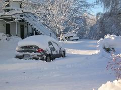 Parking in de sneeuw