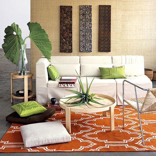 Wall hangings from west elm.  Love the carpet too.